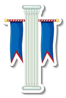 Stickersjabloon met kermisdecoratie-object geïsoleerd