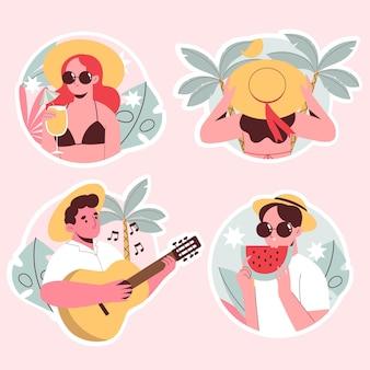 Stickerspakket met zomerse vibes