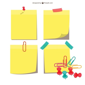 Sticky notes pakken
