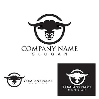 Stier logo en symbool vector eps