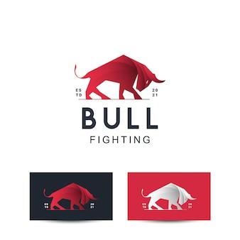 Stier logo ontwerpconcept