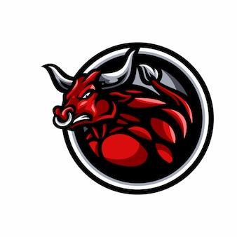 Stier mascotte logo