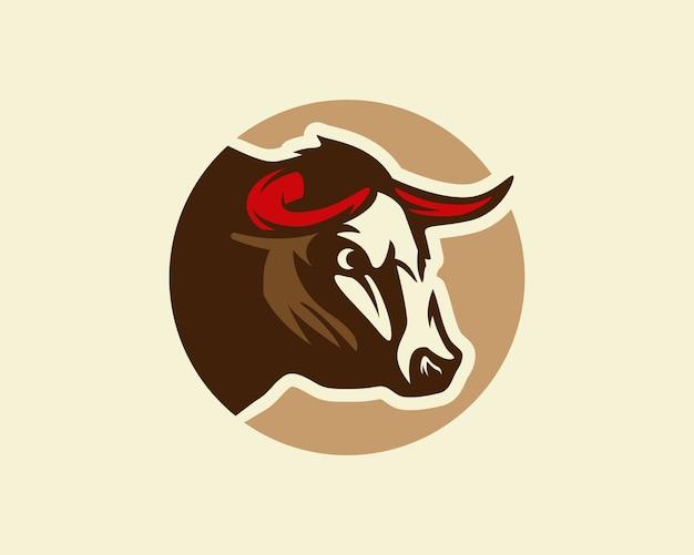 Stier, silhouet van een stierenkop