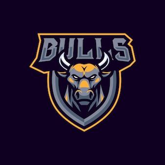 Stieren mascotte logo ontwerp