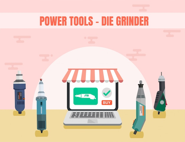 Stiftslijper assortiment power tool online ad