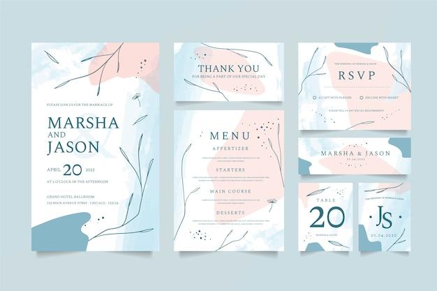 Stijl bruiloft briefpapier