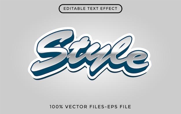 Stijl - illustrator bewerkbaar teksteffect premium vector