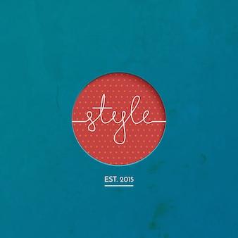 Stijl lineart logo merk, kleding, mode, vector illustratie