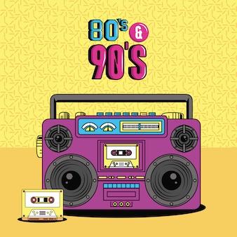 Stijl uit de jaren tachtig en negentig