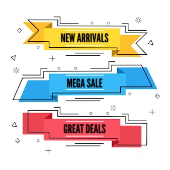 Stijl vlakke verkoop en korting bannerontwerp