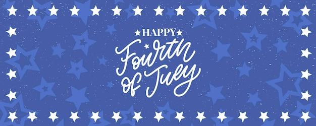 Stijlvol amerikaans ontwerp voor de onafhankelijkheidsdag van 4 juli