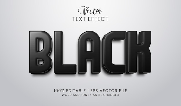 Stijlvol en opvallend bewerkbaar zwart teksteffect