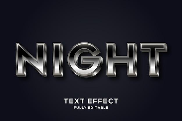 Stijlvol glanzend zwart teksteffect