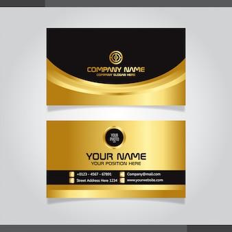Stijlvol gouden creatief visitekaartjeontwerp