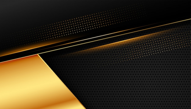 Stijlvol gouden design op donker zwart