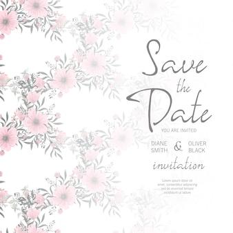 Stijlvol huwelijkskader met bloemen.