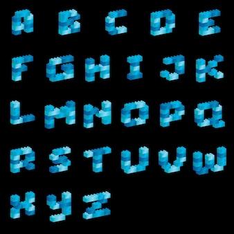 Stijlvol lettertype alfabet
