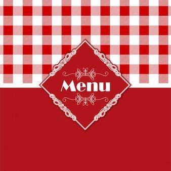 Stijlvol menu design met een boerenbont stijl patroon