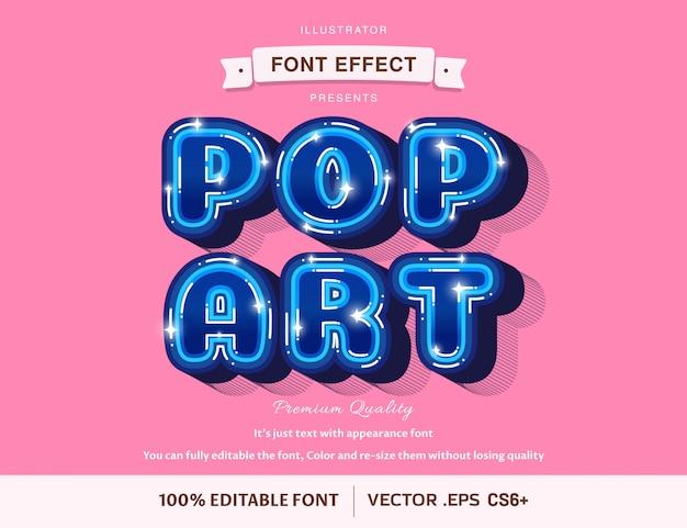Stijlvol modern - bewerkbaar lettertype-effect