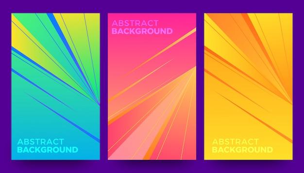 Stijlvolle abstracte achtergrond sjabloon set