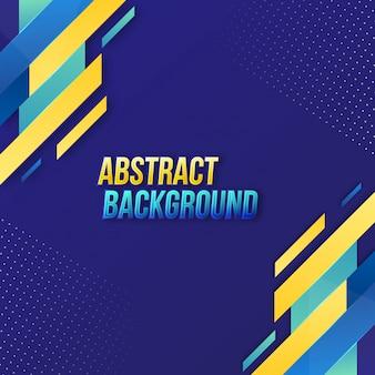 Stijlvolle abstracte donkerblauwe achtergrond met verschillende vormen