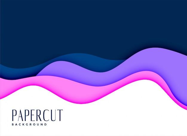 Stijlvolle achtergrond van layred papercut concept