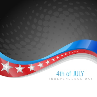 Stijlvolle amerikaanse onafhankelijkheidsdag golf kunst
