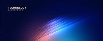 Stijlvolle blauwe technologie licht achtergrond
