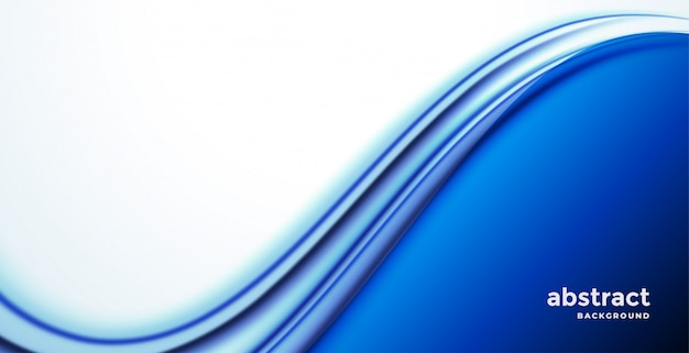 Stijlvolle blauwe zakelijke golf presentatie achtergrond