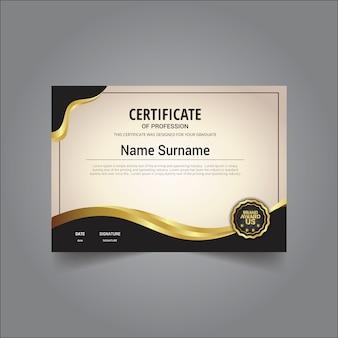 Stijlvolle certificaatsjabloon