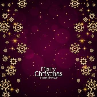 Stijlvolle decoratieve sneeuwvlokken vrolijke kerstmis achtergrond