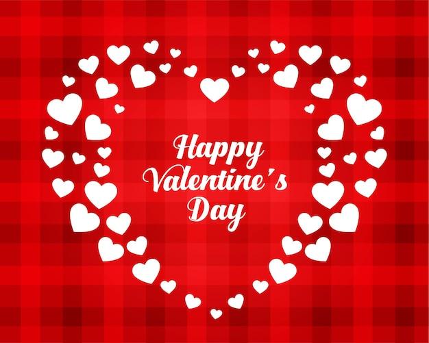Stijlvolle gelukkige valentijnsdag harten kaart