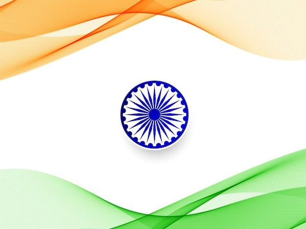 Stijlvolle golvende indiase vlag achtergrond