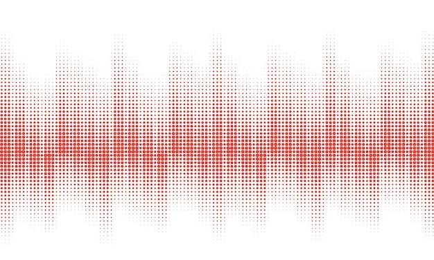 Stijlvolle golvende rode halftone achtergrond