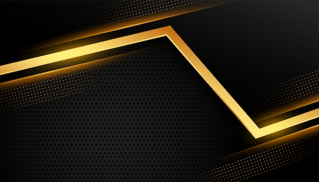 Stijlvolle gouden abstracte lijn op zwart