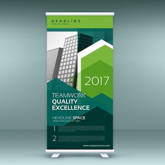 Stijlvolle groene roll up presentatie bannermalplaatje