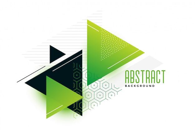 Stijlvolle groene thema driehoeken memphis achtergrond