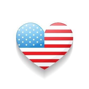 Stijlvolle hart-amerikaanse onafhankelijkheidsdag