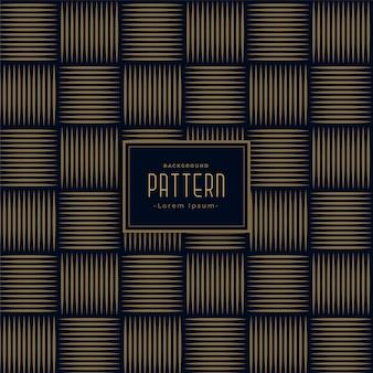 Stijlvolle horizontale en verticale lijnen patroon achtergrond