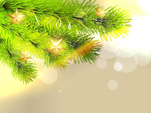Stijlvolle kerstboom achtergrond