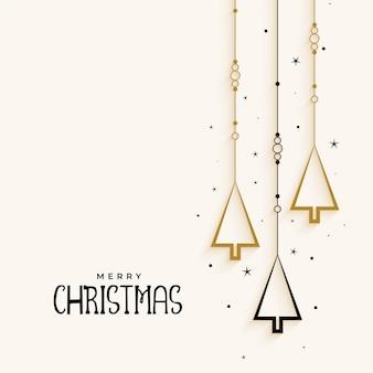 Stijlvolle kerstboom elegante achtergrond
