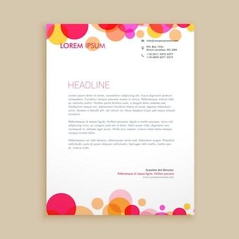 Stijlvolle kleurrijke visite briefpapier