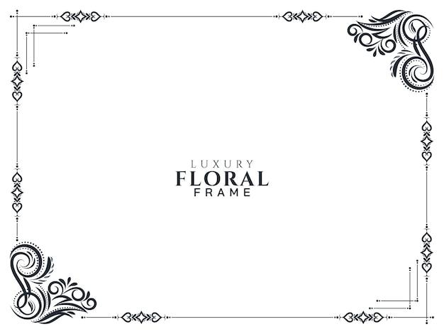 Stijlvolle luxe bloemen frame ontwerp achtergrond