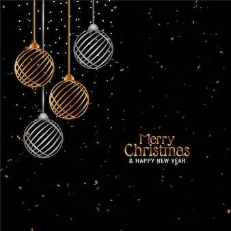 Stijlvolle merry christmas celebration confetti achtergrond
