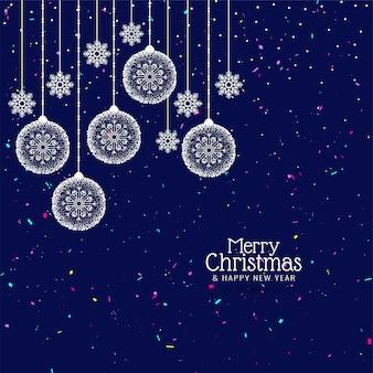 Stijlvolle merry christmas decoratieve achtergrond