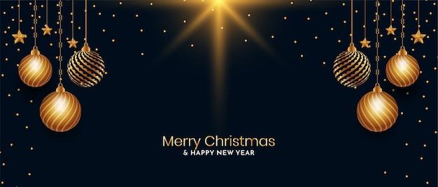 Stijlvolle merry christmas-festivalgroet