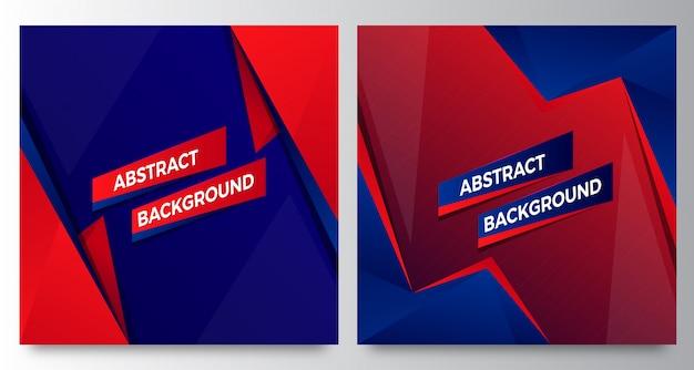 Stijlvolle moderne blauwe rode abstracte achtergrond sjablonen
