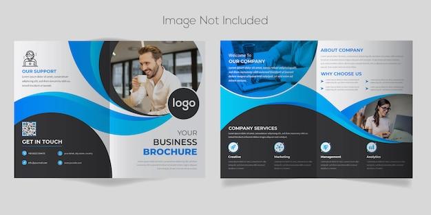 Stijlvolle moderne zakelijke tweevoudige brochure sjabloon
