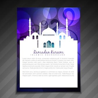 Stijlvolle moslim festival ramadan kareem sjabloon