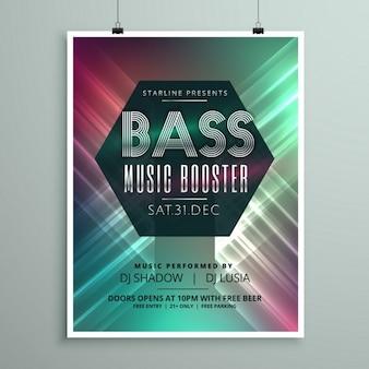 Stijlvolle muziek partij event flyer brochure sjabloon voor uw evenement